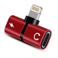 ADAPTER 2w1 IPHONE CZERWONY