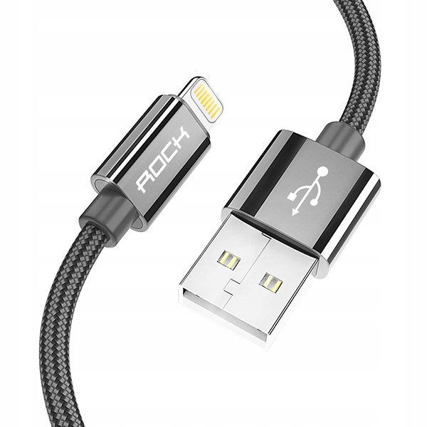 KABEL USB ROCK IPHONE 5G CZARNY