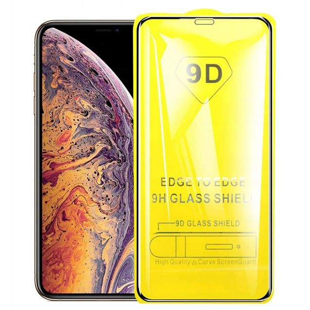 BLACK IRON GLASS 9D NA TELEFON  IPHONE XS MAX